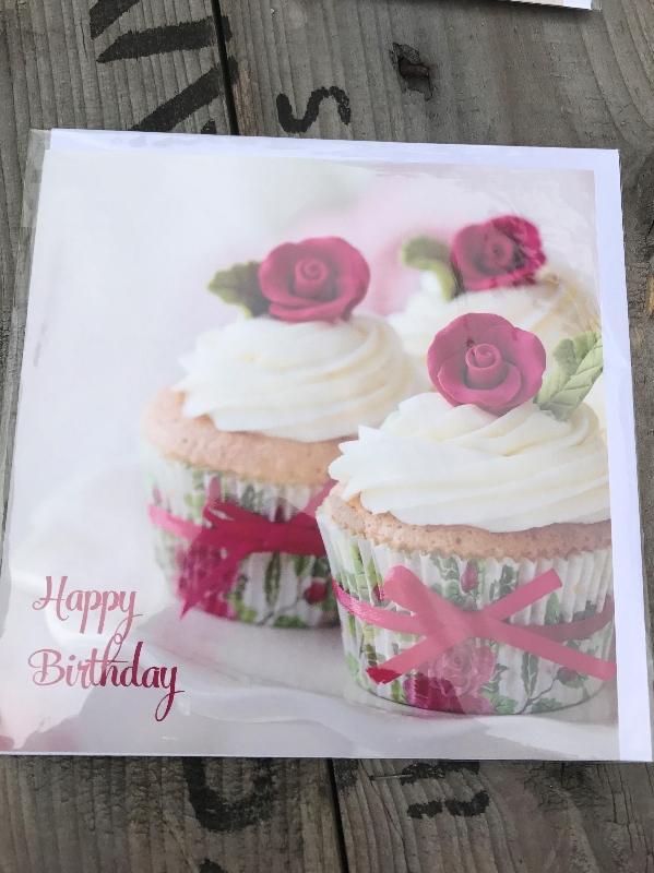 Cupcake Greeting Card Flower Power Florist Leeds