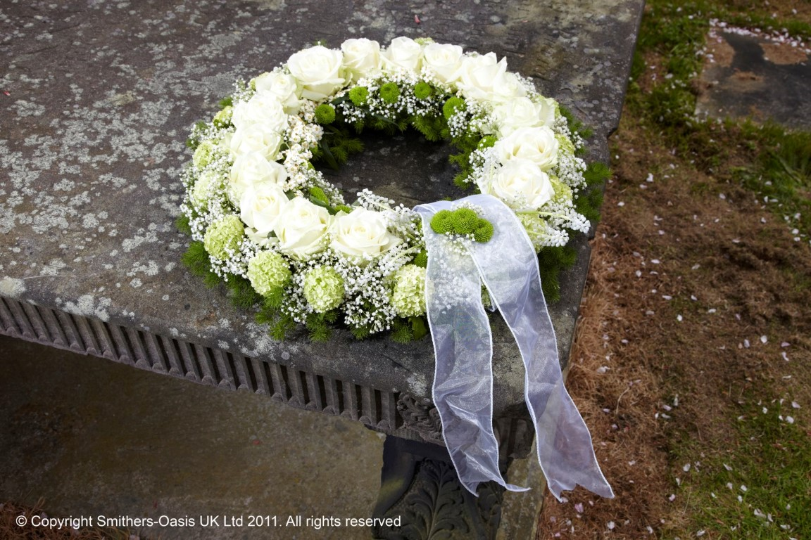 Lace Wreath Funeral Flowers Leeds