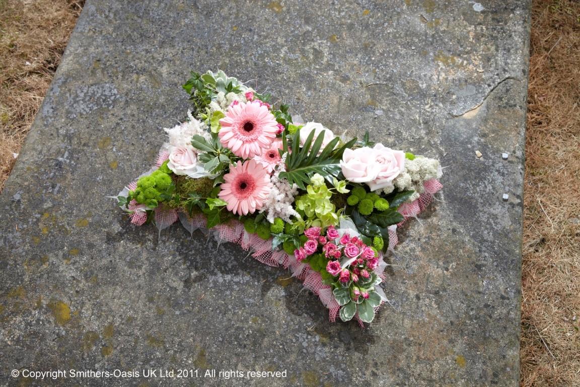 Pink Garden Pillow Funeral Flowers Leeds