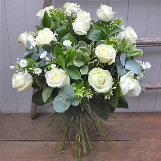 Dozen long stemmed white roses flower power florist leeds dozen long stemmed white roses mightylinksfo
