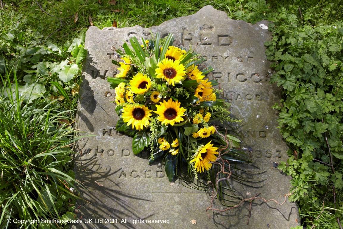 Sunflower Spray Funeral Flowers Leeds