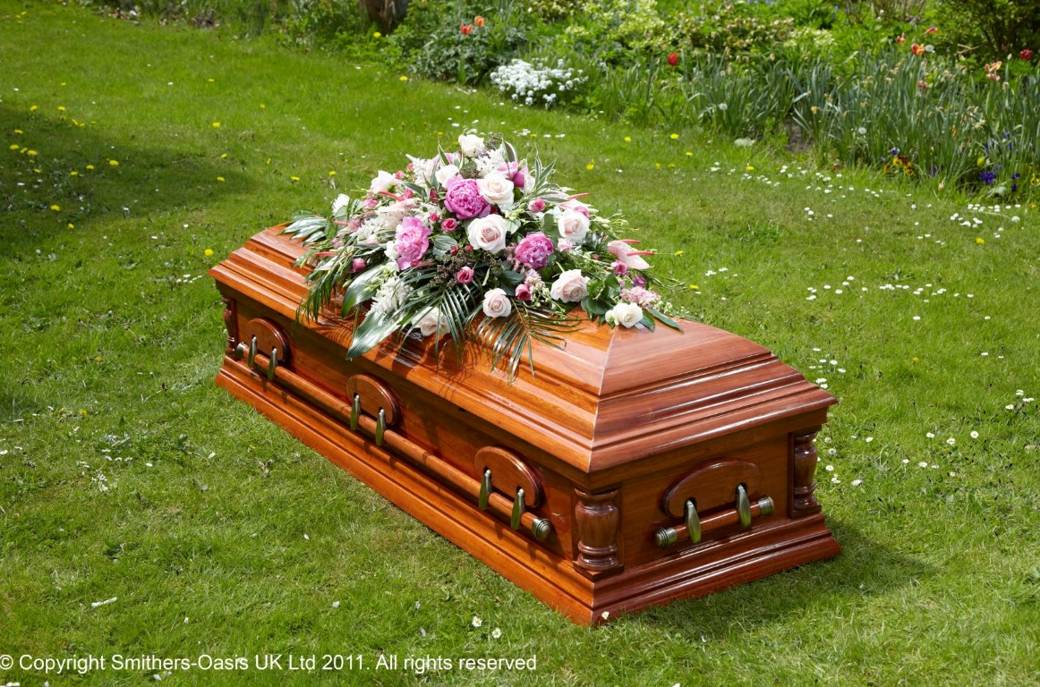 Traditional Coffin Spray Funeral Flowers Leeds